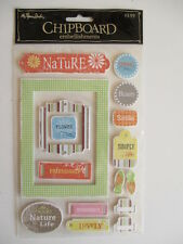 Paper Studio Chipboard Stickers - Nature - frames tags words & phrases