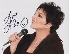 Liza Minnelli signed 8x10 photo In-person