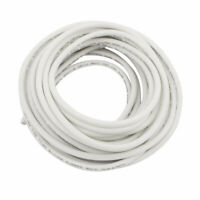 22AWG 20KV Electric Copper Core Flexible Silicone Wire Cable White 5 Meter