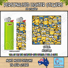Lighter Stickers / Wrap x9 - Standard Bic Lighter - MINIONS / DESPICABLE ME