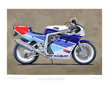 Motorcycle Limited Edition Print by Steve Dunn - Suzuki GSX-R750RK aka 'RR'