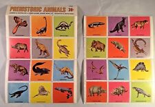 Prehistoric Animals Dinosaur Collector Stamps (RARE) From the 1970s