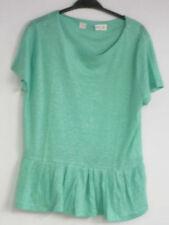 Maglie e camicie da donna verde in lino taglia L