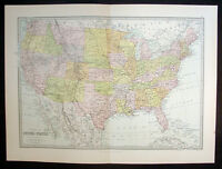 1879 George Philip Large Antique Map of the United States of America