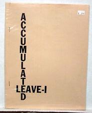 1980 Star Trek Fanzine-ACCUMULATED LEAVE 1- R&R Collect