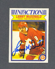 Lanny McDonald signed Flames 1982-83 Opc In Action card