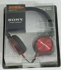 New Sony Make Believe MDRZX300 Stereo Headphones (MDR-ZX300R) Studio Monitor
