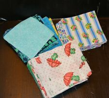 """120 4"""" cotton fabric squares for quilting and crafts florals"""