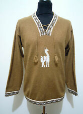 CULT VINTAGE '70 Maglione Uomo Lana Etnico Etnic Wool Man Sweater Sz.M - 48