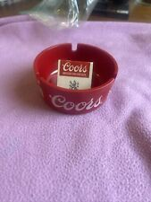 Vintage Coors/ Coors Light Red Ashtray and Matches
