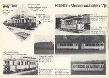 catalogo GOGTRAM 1979 HO HOm Messeneuheiten Strassenbahn         D   aa
