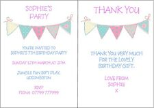Personalised Girls Birthday Party Invitations 1st 2nd 3rd 4th 5th 6th 7th ANYAGE