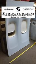 Boeing 747 Airline Airplane Wall = DOUBLE WINDOW PANEL Passenger Cabin Fuselage