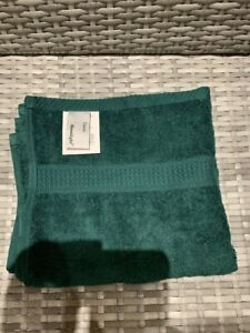 Plain Bottle Green Hand Towel