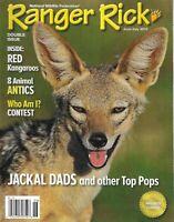 Ranger Rick Magazine Jackal and other Dads Red Kangaroos Animal Tactics 2012