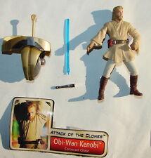 Star Wars AOTC Obi Wan Kenobi Coruscant chase  w a cc.   2002  Clones  E II 1015