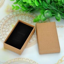 BD New Tawny Kraft Paper Gift Box Earrings Rings Pendant Necklace Jewelry Box