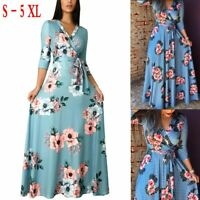 Women Long Sleeve Floral Party Sexy Canonicals Maxi Summer Gown Fashion Dress