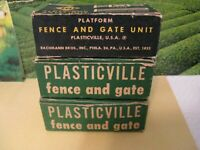 2 Plasticville  #HF-2 Fence & Gate With Box And 1 H0-25 Fence And Gate