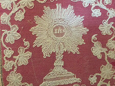 Pale Prêtre Calice Art Sacré Broderie  XIX ème Antique French Liturgique