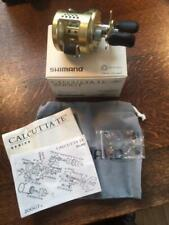 Vintage Shimano Calcutta TE 200 GT Bait Casting Reel with Box and Accessories