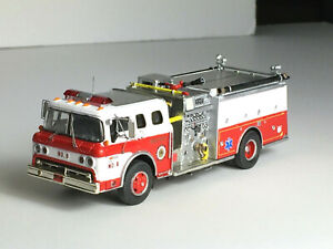 1960-70'2 Ford C type Fire Truck Pumper Custom SUPER DETAIL HO or 1:87 Scale