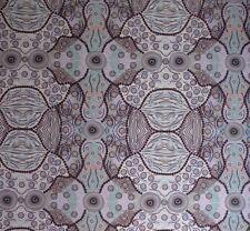 Wild Coconut Blue Australian Aboriginal Fabric Patchwork Quilting Craft FQ metre