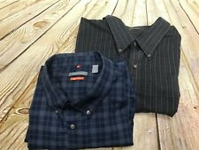 2 Men's Van Heusen 3XL Premium Non Iron Button Up Regular Fit Shirts GUC