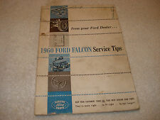 1960 Ford Falcon Service Tips (from your Ford Dealer) Brochure