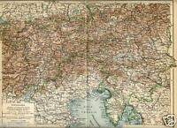 1902 Antica Mappa = ISTRIA TRIESTE VENEZIA TIROLO  Friuli Venezia Giulia OLD MAP