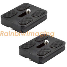 2 x 50mm Quick Release Plate Arca-Swiss Type for Canon Nikon Sony Fujifilm DSLR