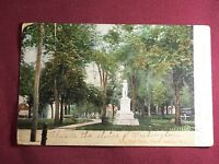 Vintage 1908 Souvenir Postcard City Hall Perth Amboy New Jersey Washington Statu