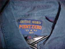 RARE VINTAGE MEN'S POINT ZERO HOTEST SERIES BLUE JEAN BLUE SILK SHIRT  SIZE XL