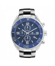 OROLOGIO LORENZ CRONO SUBMARINER DIVER UOMO BLU CHRONO MAN WATCH MONTRE HOMME