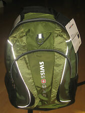 "Brand New SwissGear Mercury Green/Black 16"" Laptop Carrying Case Backpack $49.99"