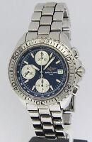 Breitling Aeromarine Shark Chronograph Stainless Steel Blue Mens Watch A13051