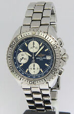 Breitling Aeromarine Shark Chronograph Stainless Steel Blue Mens Watch A13051