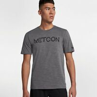 Nike Dri-FIT Training Tee New Grey Black Men Sportswear 923538-036