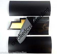 "Black Matte Vinyl Overlay - (2) 11""x5"" Sheets for Chevy Bowtie Emblems (Decal)"