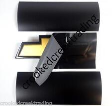 "Black Matte Vinyl Sheets - (2) 11""x5"" Sheets for Chevy Bowtie Emblems (Decal)"