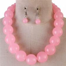 Pink Lucite Bead Gradual Necklace earring