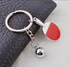 Hot X'mas Cute Mini Table Tennis Keyfob Racket Classic Keychain Creative Keyring