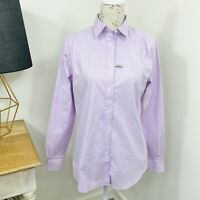 RM Williams Womens Nicole Shirt Purple Long Sleeve Button Front Size 12
