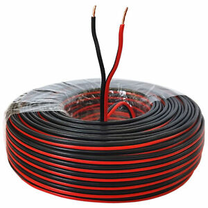 Lautsprecherkabel 100m Rot/Schwarz 1,5 mm² Kupfer Audiokabel Boxenkabel Litze