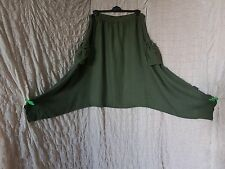 Sarah Santos green 100% linen full harem trousers size XL