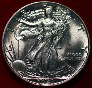 Uncirculated 1943 Philadelphia Mint Silver Walking Liberty Half