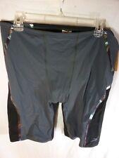 Men's Speedo Powerplus Swim Shorts, Black/Gray, Size XL - NWT