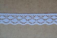 CRAFT-SEWING-COTTON LACE 10mtrs x 17mm White Scallop Lace