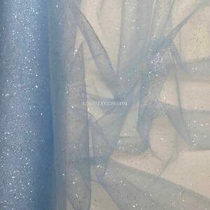 Baby Blue Fairy Tulle Stardust Glitter Sparkling TUTU NET Frozen Fabric Dolls