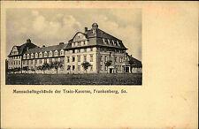 Frankenberg Sachsen 1916 Mannschaftsgebäude Train-Kaserne Militaria Postkarte